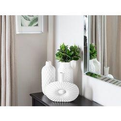 Dekoracyjny wazon na kwiaty biały ARWAD (4260624118116)