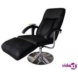 Vidaxl fotel masujący, czarny, sztuczna skóra (8718475832683)