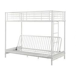 Łóżko antresola modulo iv - 90 × 190 cm - kolor biały marki Vente-unique