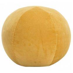 Żółta okrągła pufa welurowa - Bazali 2X, vidaxl_284040
