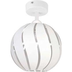 Plafon LAMPA sufitowa GLOBUS SKOS 31316 Sigma ażurowa OPRAWA metalowa KULA ball z wycięciami biała