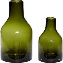 Hübsch Wazon butelka zielony 2 szt. (5712772064658)