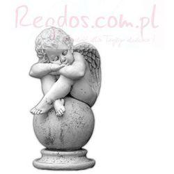 Figura ogrodowa betonowa śpiący aniołek na kuli 60cm, towar z kategorii: Dekoracje ogrodowe