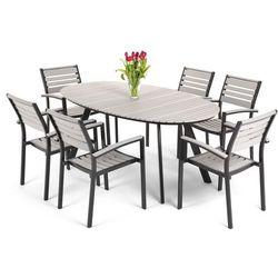 Meble ogrodowe HOME&GARDEN 780451 Lorenzo aluminiowe Czarno-Szary - sprawdź w wybranym sklepie