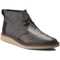 Trzewiki TOMS - Mateo Chukka 10009180 Black Leather/Herringbone