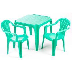 Grand soleil stolik i dwa krzesła dla dzieci, zielone (8595105770054)