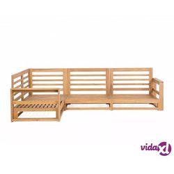 meble ogrodowe z drewna akacjowego brązowe timor marki Beliani