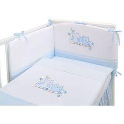 Mamo-tato pościel 3-el sówki uszatki błękitne do łóżeczka 70x140cm
