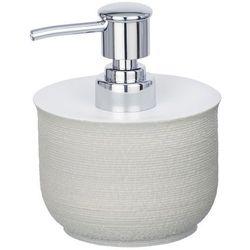 Dozownik do mydła Nebo, kolor szary, pojemność 240 ml, wykonany z polyresinu, wymiary 10x12.5x10.5 cm, marka WENKO