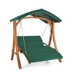 Blumfeldt Aruba huśtawka ogrodowa Hollywood 130 cm 2-osobowa lite drewno (4260486150309)