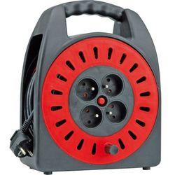 Vorel Przedłużacz zwijany gumowy, 4 gniazda, 3x1mm, 25m 72572 (5906083725722)