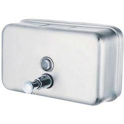 Faneco Dozownik do mydła w płynie poziomy 1 litr top h stal szlachetna matowa (5901764291725)