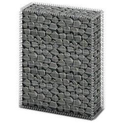 Vidaxl kosz gabionowy z ocynkowanego drutu stalowego 100 x 80 30 cm