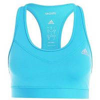 adidas Performance TECHFIT SOLID Biustonosz sportowy energy blue/metallic silver