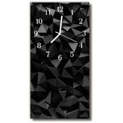 Zegar szklany pionowy nowoczesny geometria grafika 3d marki Tulup.pl