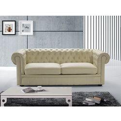 Sofa kanapa skórzana bezowa klasyka dom biuro CHESTERFIELD, marki Beliani do zakupu w Beliani