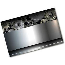 Deska kuchenna duża szklana Zębatki abstrakcja