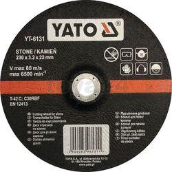 Tarcza do cięcia kamienia, wypukła 230x3.2x22 mm / YT-6131 / YATO - ZYSKAJ RABAT 30 ZŁ, YT-6131 (2450882)