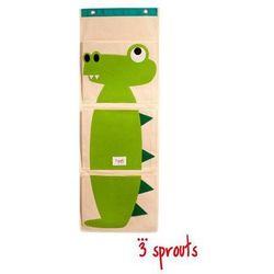 3 sprouts  organizer na ścianę - krokodyl