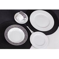 Chodzież venus black&white k244 serwis obiadowy i kawowy 30/6 marki Chodzież / venus
