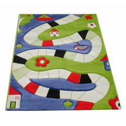 Dywan Soft Play Plansza do Gry 134 x 180 cm niebieski, 101MD031MA13182