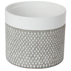 Goodhome Doniczka ceramiczna ozdobna 17 cm szara