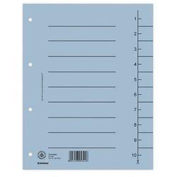 Przekładki DONAU oddz. A4 op.100 - niebieskie, 8610001-10
