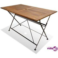 vidaXL Składany stół ogrodowy z drewna akacjowego, 120x70x74 cm (8718475573364)