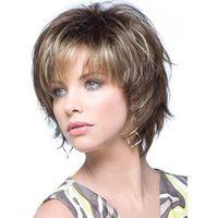 Short Curly Side Bang Towheaded Wig