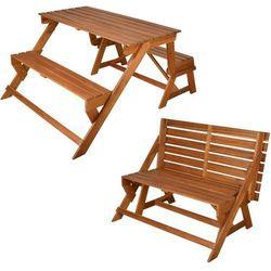 Esschert design  wygodna ławka/praktyczny stół piknikowy bl059, kategoria: stoły ogrodowe