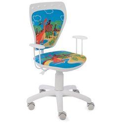 Obrotowe krzesło dziecięce MINISTYLE WHITE - Dino, Nowy Styl