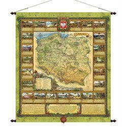 Polska przyroda mapa ścienna Pergamena (mapa szkolna)