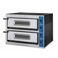 Piec do pizzy 2-komorowy | 8 x pizza 36 cm | inox | 230V lub 400V