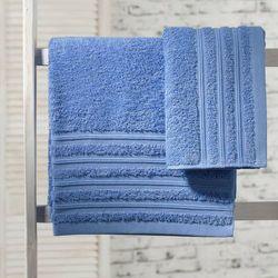 ręcznik aveiro niebieski, 50x90cm marki Dekoria