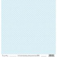 Ozdobny papier 30,5x30,5 cm - niebieski - NIE