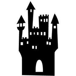 Szablon malarski z tworzywa, wielorazowy, wzór dla dzieci 59 - zamek wiedźmy