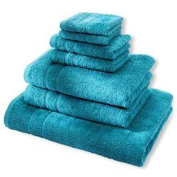 """Komplet ręczników """"Deluxe"""" (7 części) bonprix niebieskozielony morski"""