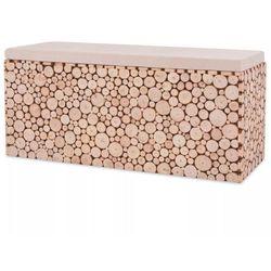 Vidaxl ławka z prawdziwego drewna, 100 x 34 41 cm (8718475564720)