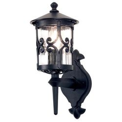 Zewnętrzna lampa ścienna hereford bl10 klasyczny kinkiet metalowa oprawa ogrodowa ip23 outdoor czarna marki Elstead