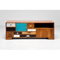 Kare design :: szafka rtv babalou - brązowy, niebieski, czarny, biały ||szafka tv babalou