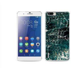 Fantastic Case - Huawei Honor 6 Plus - etui na telefon Fantastic Case - zielony marmur - produkt z kategorii-