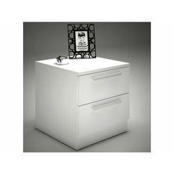 Szafka nocna mathias – 2 szuflady – kolor biały marki Vente-unique