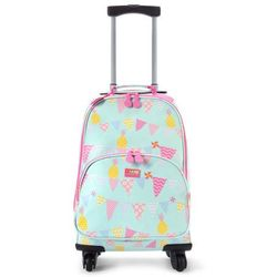 Penny Scallan Design, walizka na czterech kółkach, miętowo-różowy w ananasy - produkt z kategorii- walize