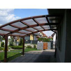 Przyścienna wiata garażowa dr - transport gratis! wyprodukowany przez Ogrodosfera.pl