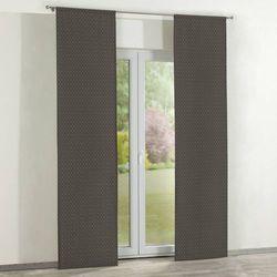 Dekoria  zasłony panelowe 2 szt., kropki czarno-srebrne, 60 x 260 cm, wyprzedaż do -30%