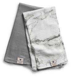- kocyk bambusowy marble grey marki Elodie details