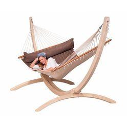 Hamak ze stojakiem drewnianym alabama & canoa rodzinny marki Hamaki la siesta