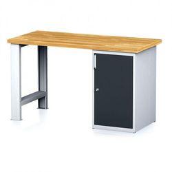 Stół warsztatowy mechanic, 1500x700x880 mm, 1x szafka, szary/antracyt marki B2b partner