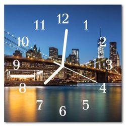 Zegar szklany kwadratowy Most architektura