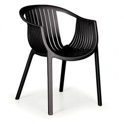 Fotel ogrodowy lounge, czarny, 3+1 gratis marki B2b partner